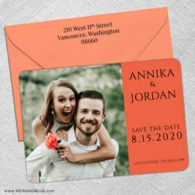 Dreams Nb 5 Save The Date With Optional Color Envelope