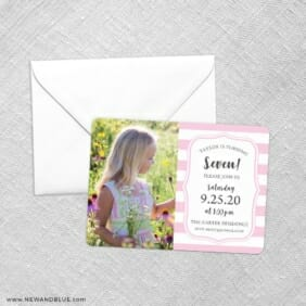 Birthday Stripes Save The Date Party Card Etsy