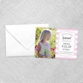 Birthday Stripes Save The Date Cards Fb