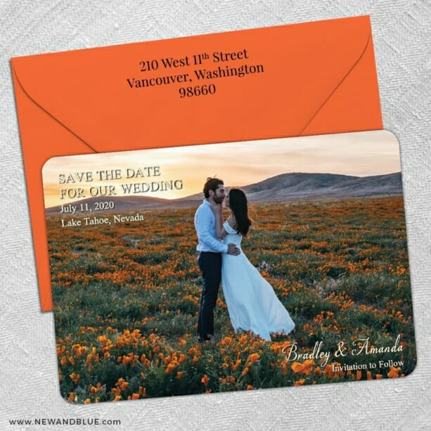 Countryside Nb 5 Save The Date With Optional Color Envelope
