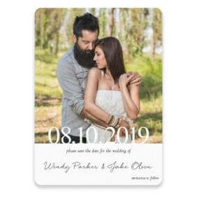 Bask In Love Save The Date Postcards