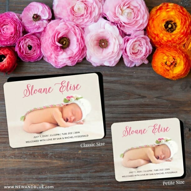 Welcome Baby 2 Save The Date Magnet Classic And Petite Size