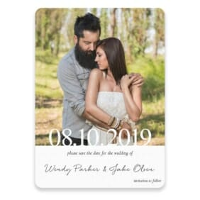 Bask In Love Save The Date With Envelope In Color Black