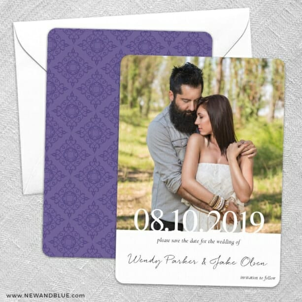 Bask In Love Nb Save The Date Wedding Card