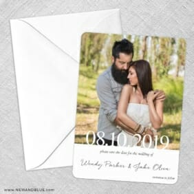 Bask In Love Nb Save The Date Party Card