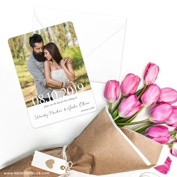 Bask In Love Nb Save The Date Cards With Envelope