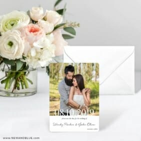 Bask In Love Nb Save The Date Card With Envelope