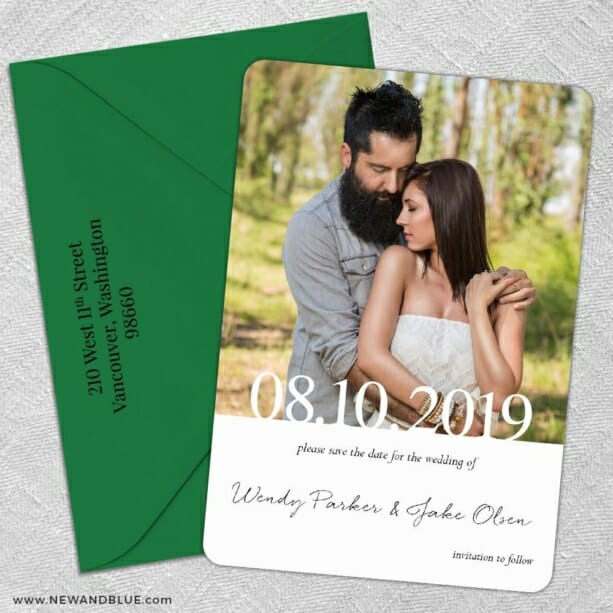 Bask In Love Nb2 5 Save The Date With Optional Color Envelope