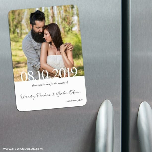 Bask In Love Nb2 3 Refrigerator Save The Date Magnets
