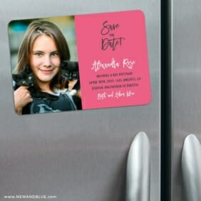 Modern Bat Mitzvah 3 Refrigerator Save The Date Magnets
