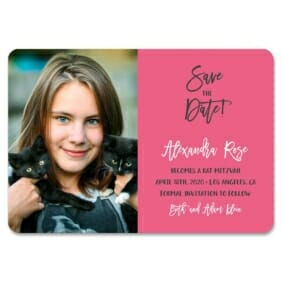 Modern Bat Mitzvah 1 Save The Date Magnets