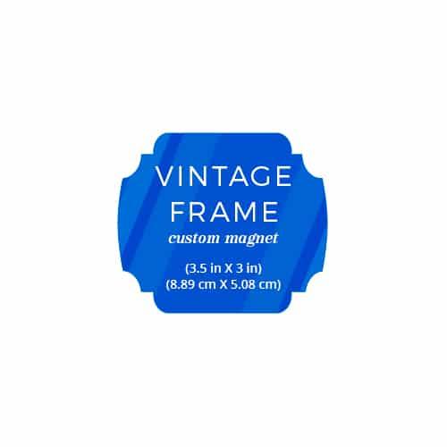 Vintage Frame Landscape Custom Save The Date Magnets