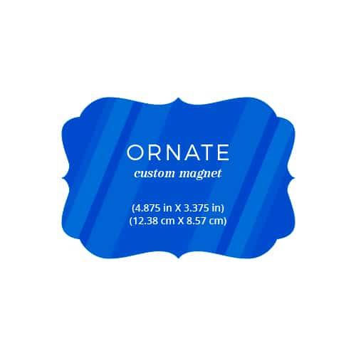 Ornate Landscape Custom Save The Date Magnets
