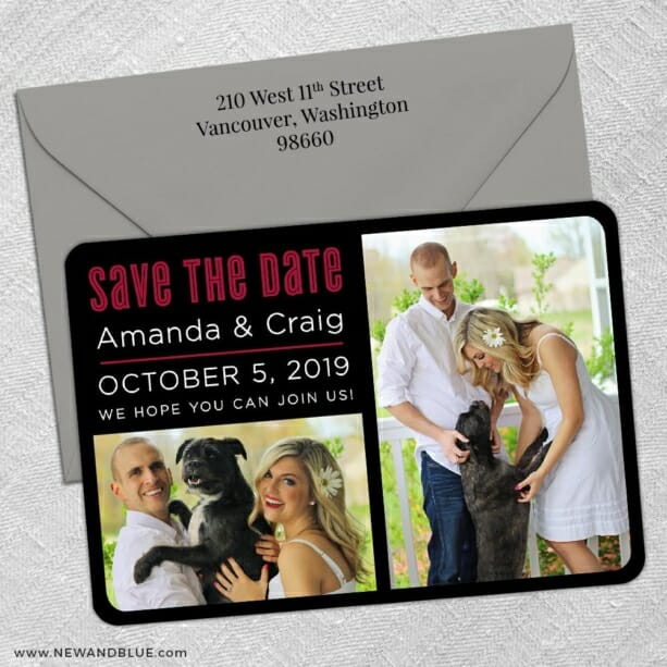 Soulmate Nb 5 Save The Date With Optional Color Envelope