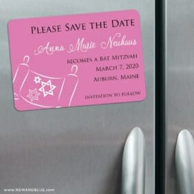 Torah Bat Mitzvah Nb 3 Refrigerator Save The Date Magnets