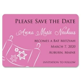 Torah Bat Mitzvah Nb 1 Save The Date Magnets