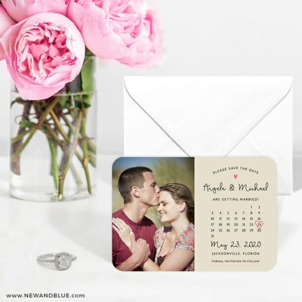 Sweetheart Calendar Nb1 6 Wedding Save The Date Magnets
