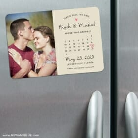 Sweetheart Calendar Nb1 3 Refrigerator Save The Date Magnets