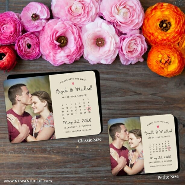 Sweetheart Calendar Nb1 2 Save The Date Magnet Classic And Petite Size
