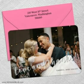 Love And Thanks 5 Save The Date With Optional Color Envelope