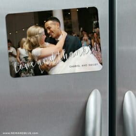 Love And Thanks 3 Refrigerator Save The Date Magnets