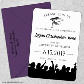 Valedictorian Nb 5 Save The Date With Optional Color Envelope