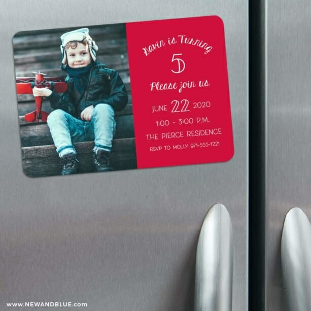 Happy Birthday 3 Refrigerator Save The Date Magnets