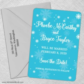 Snow Nb 5 Save The Date With Optional Color Envelope