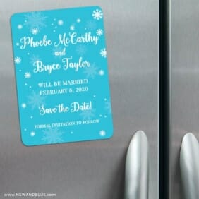 Snow Nb 3 Refrigerator Save The Date Magnets