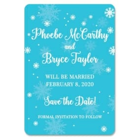 Snow Nb 1 Save The Date Magnets