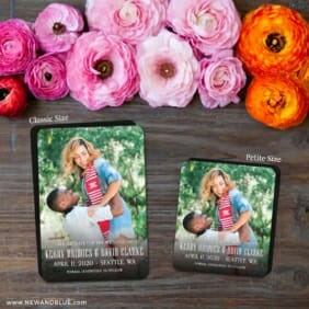 Vignette Nb 2 Save The Date Magnet Classic And Petite Size