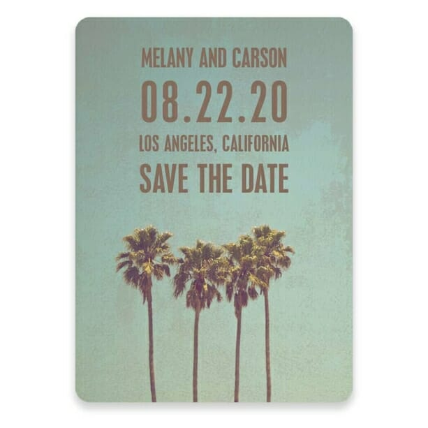 Los Angeles Save The Date Postcards