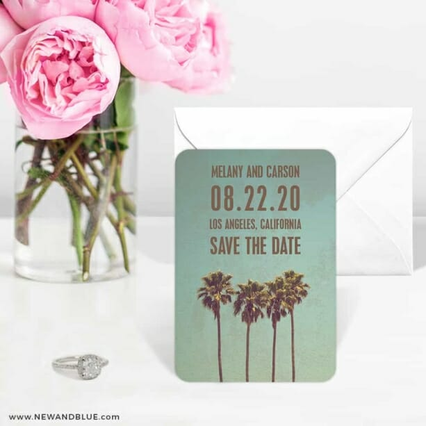 Los Angeles 6 Wedding Save The Date Magnets