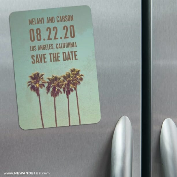 Los Angeles 3 Refrigerator Save The Date Magnets
