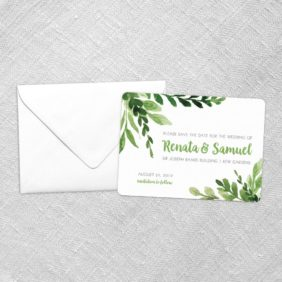 Greenery Save The Date Cards Fb