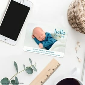 Hello Baby 7 Wedding Save The Date Magnets
