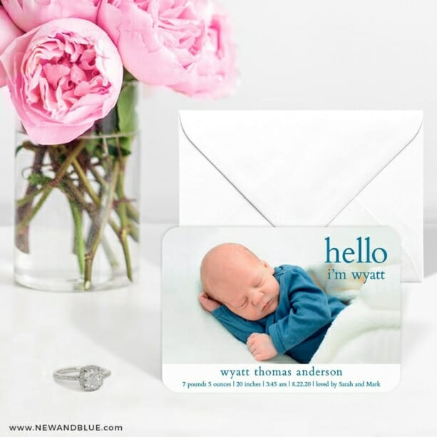 Hello Baby 6 Wedding Save The Date Magnets