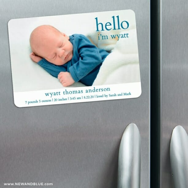 Hello Baby 3 Refrigerator Save The Date Magnets