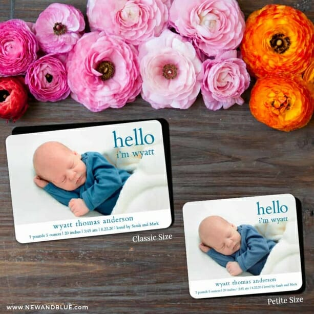 Hello Baby 2 Save The Date Magnet Classic And Petite Size