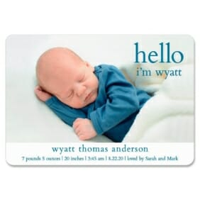 Hello Baby 1 Save The Date Magnets