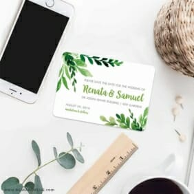 Greenery 7 Wedding Save The Date Magnets