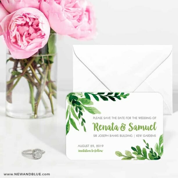 Greenery 6 Wedding Save The Date Magnets