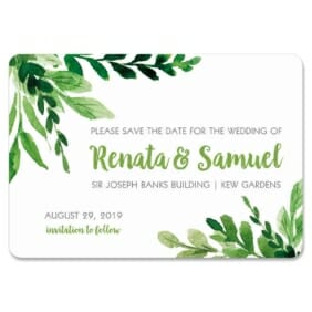 Greenery 1 Save The Date Magnets