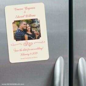 Amour Nb 3 Refrigerator Save The Date Magnets