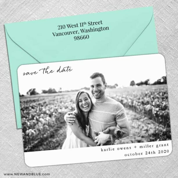 Exciting Times Nb 5 Save The Date With Optional Color Envelope