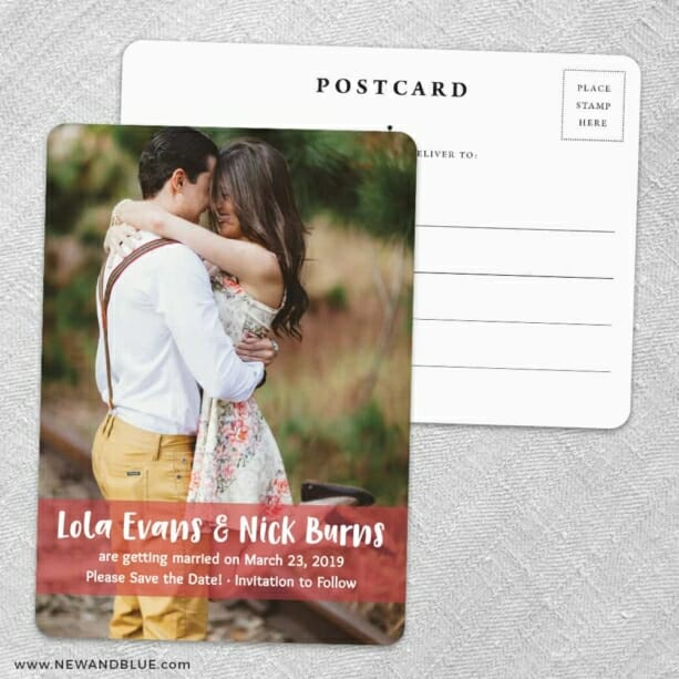 Breckenridge Nb Save The Date Wedding Postcard Front And Back