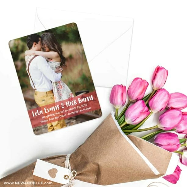 Breckenridge Nb Save The Date Cards With Envelope