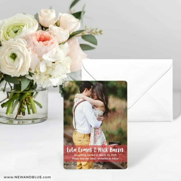 Breckenridge Nb Save The Date Card With Envelope