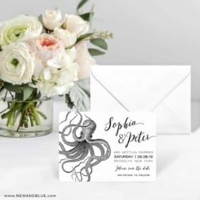 Jules Save The Date Card With Envelope