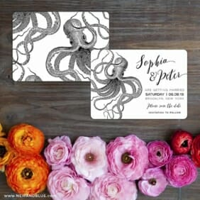 Jules Save The Date Card With Back Printing
